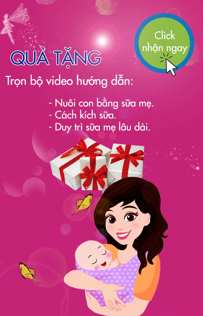 Quà tặng trọn bộ video hướng dẫn nuôi con bằng sữa mẹ