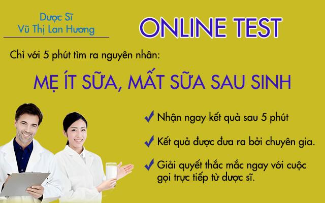 Thực hiện bài test online giúp tìm nguyên nhân ít sữa, mất sữa