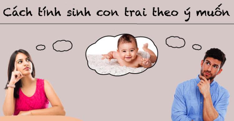 Cách tính sinh con trai theo ý muốn