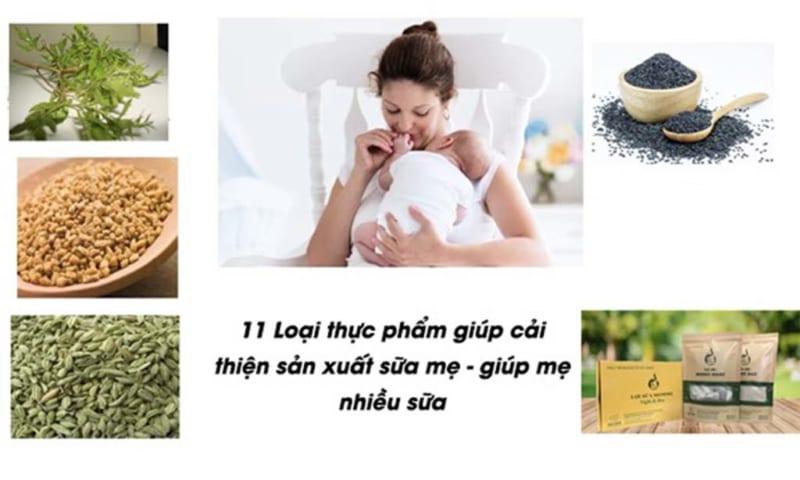 cải thiện sản xuất sữa mẹ